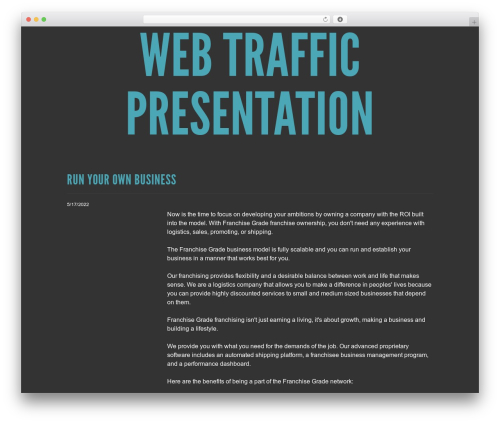 WordPress website template Trvl - webtrafficpresentation.com