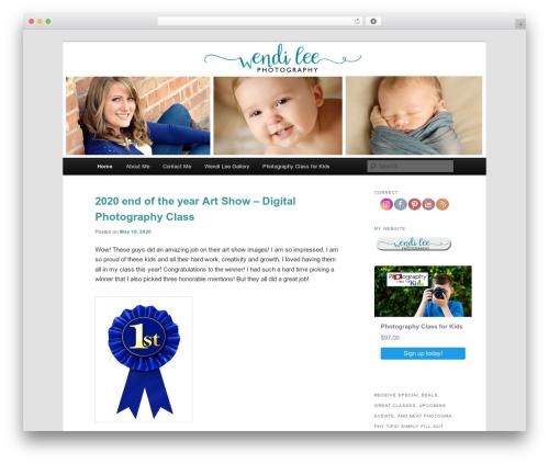 WordPress website template Twenty Eleven - wendileephotography.com