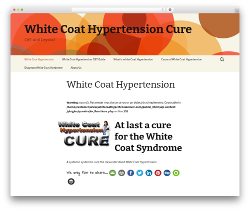 WordPress website template Twenty Thirteen - whitecoathypertensioncure.com