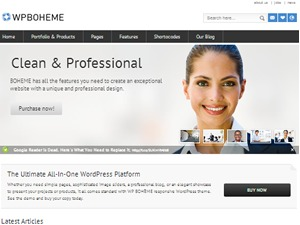WP BOHEME company WordPress theme
