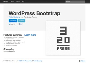 wp-bootstrap WordPress page template