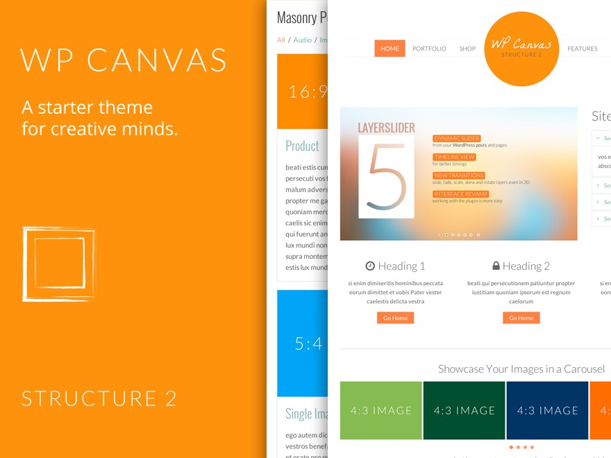 WP Canvas - Structure 2 top WordPress theme
