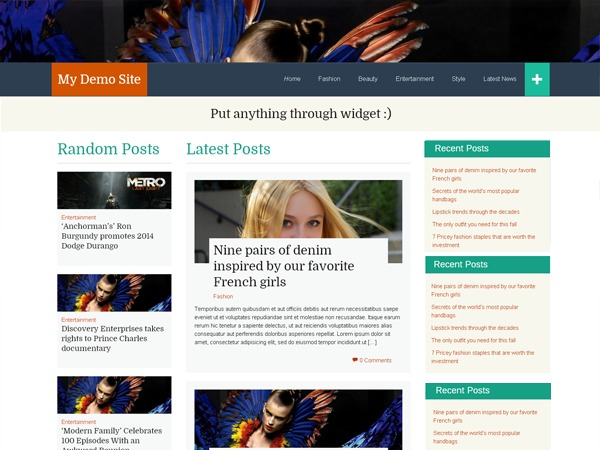 WP FlatThirteen free website theme