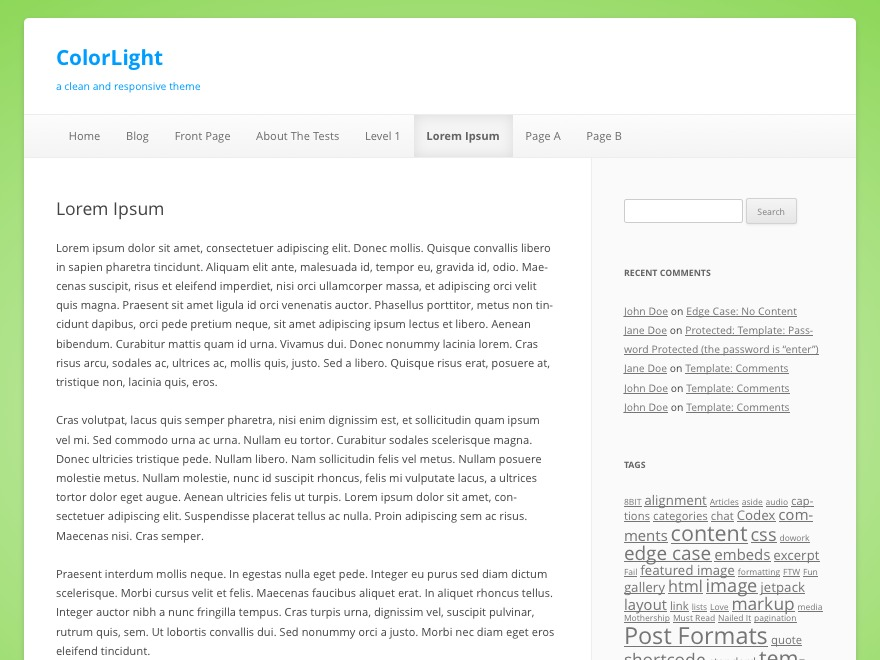 WP template ColorLight