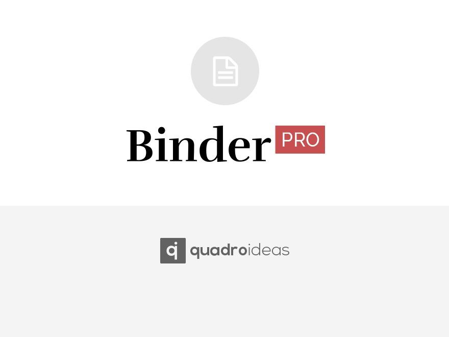 WP theme Binder PRO