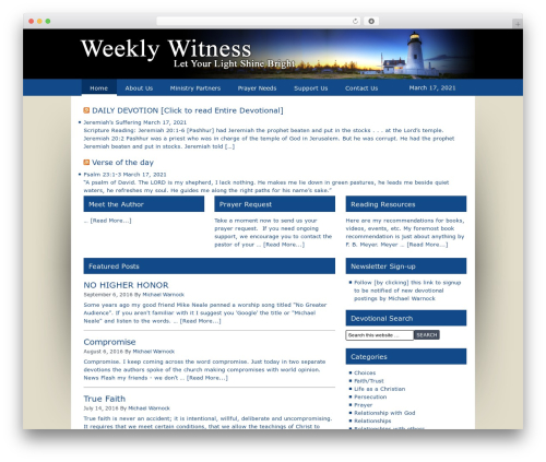 WP theme Lifestyle - weeklywitness.com