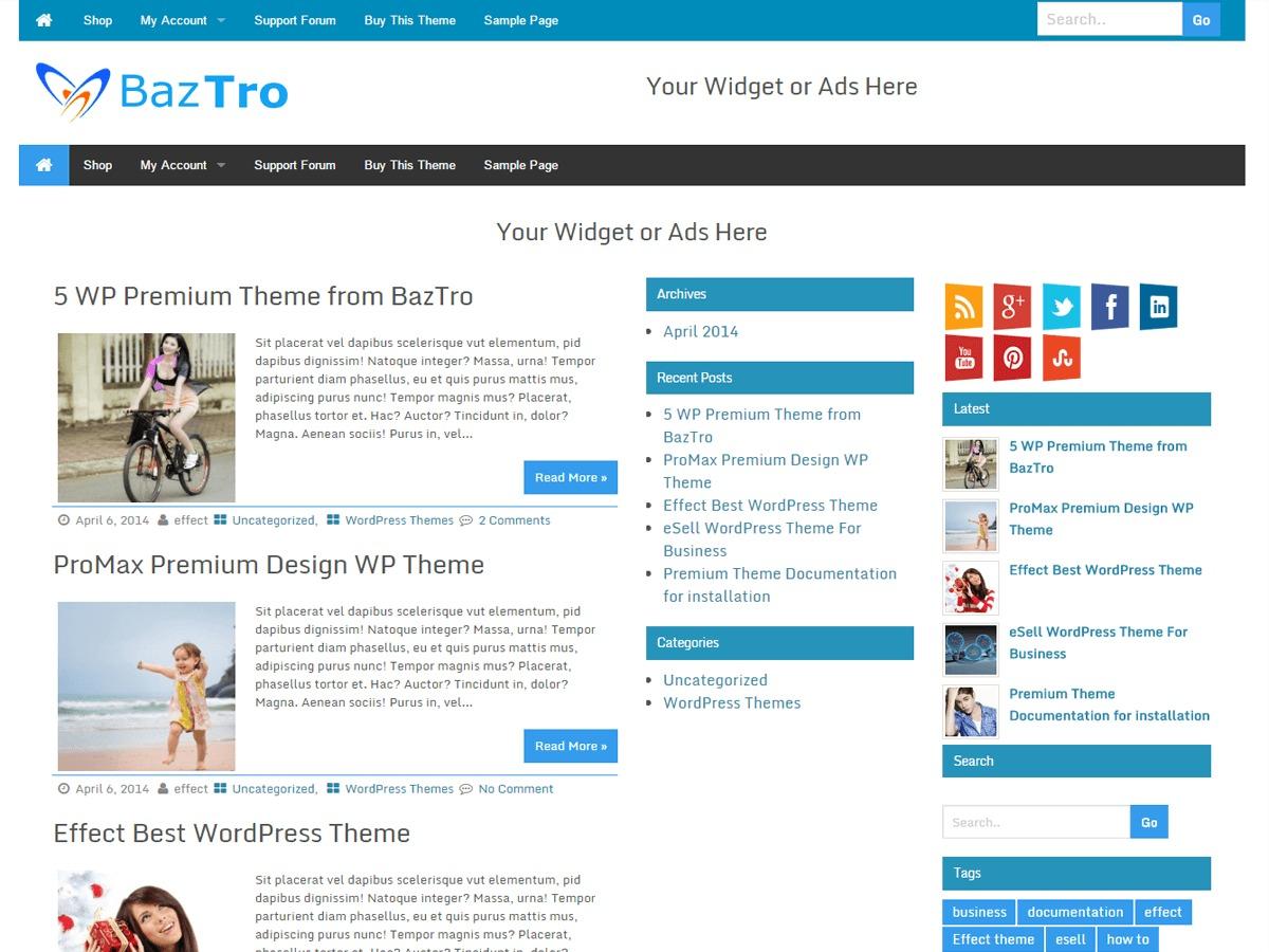 Wrock Metro WordPress magazine theme