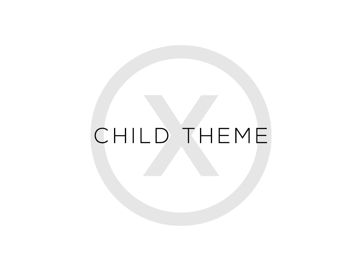 X – Child Theme top WordPress theme