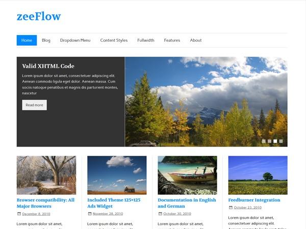 zeeFlow WordPress template for photographers