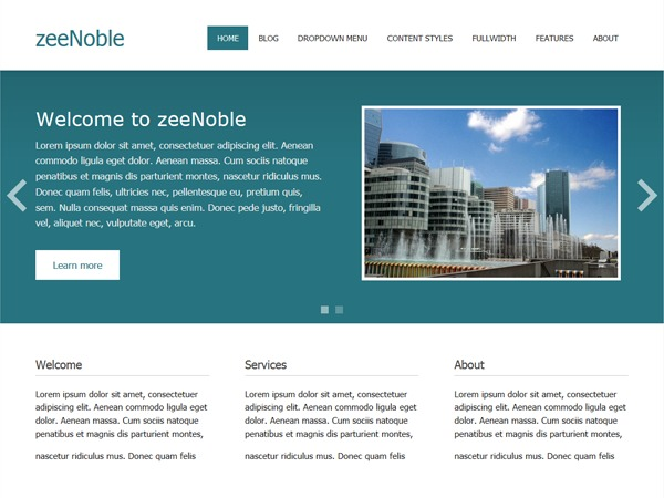 zeeNoble photography WordPress theme