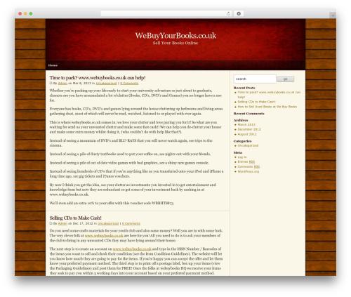 Zeke (2-Column) 1.0 + Widgets WordPress website template - webuyyourbooks.co.uk