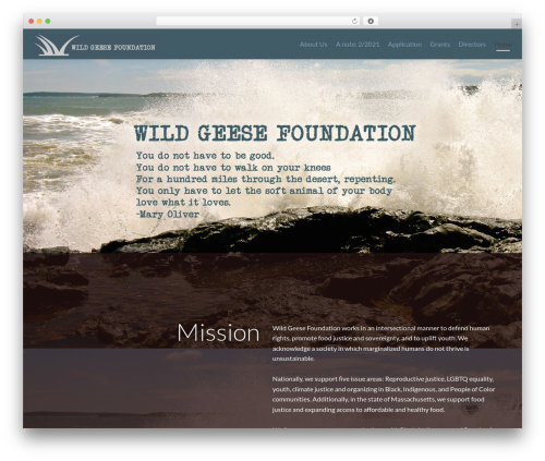 Zerif PRO WordPress theme - wildgeesefdn.org