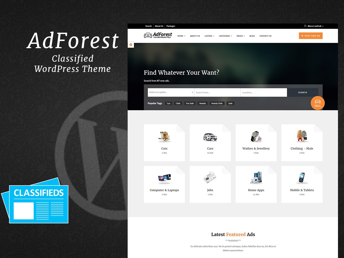 adforest business WordPress theme