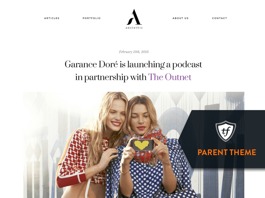 Aesthetic Parent WordPress theme