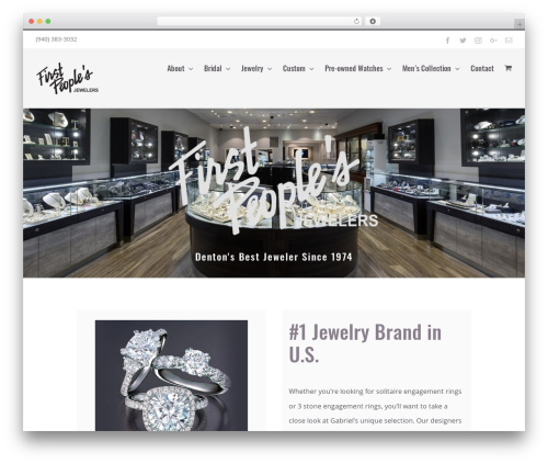 Avada WordPress shopping theme - firstpeoplesjewelers.com