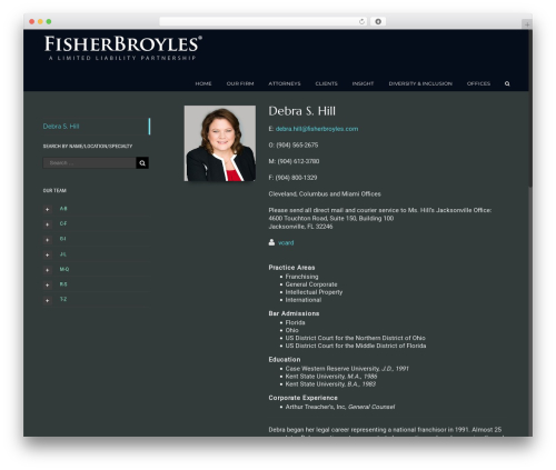 Avada WordPress theme - fisherbroyles.com/debra-s-hill