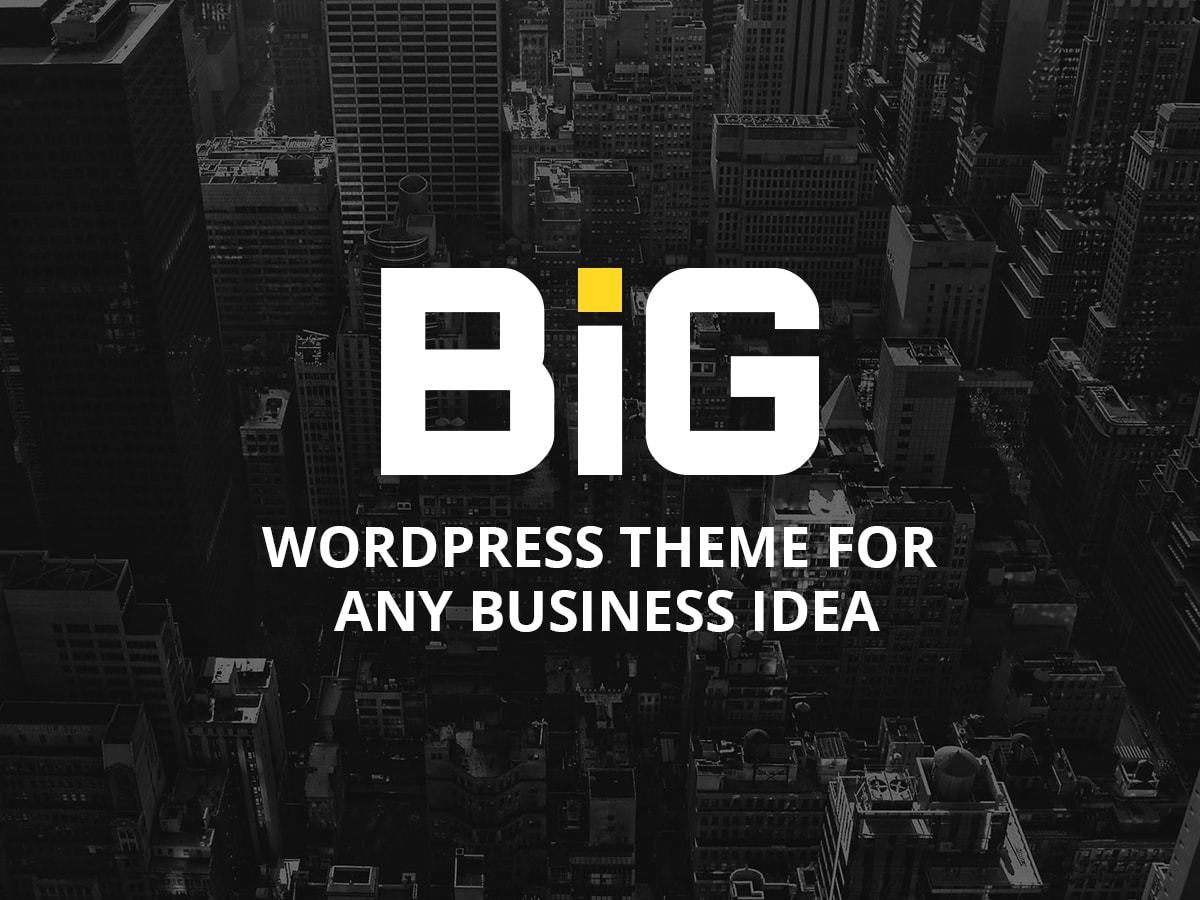 B.I.G company WordPress theme