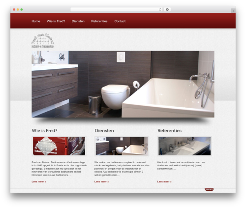 Best WordPress template Boldy - fredsanitair.nl