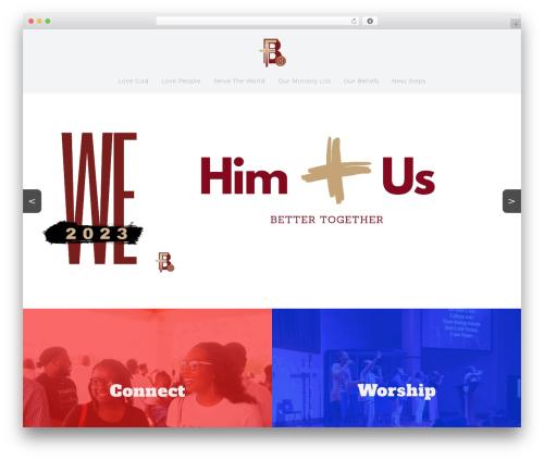 Best WordPress template Sharefaith Church Website Template - freeportbiblechurch.org