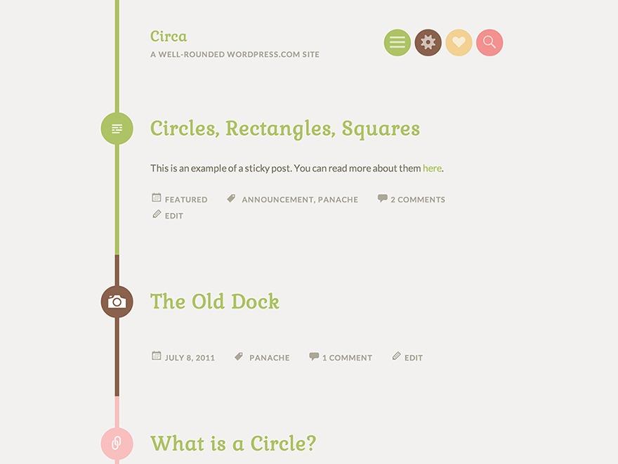 Circa WordPress blog template