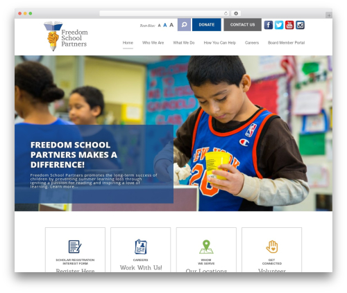 CS Radix WordPress theme design - freedomschoolpartners.org