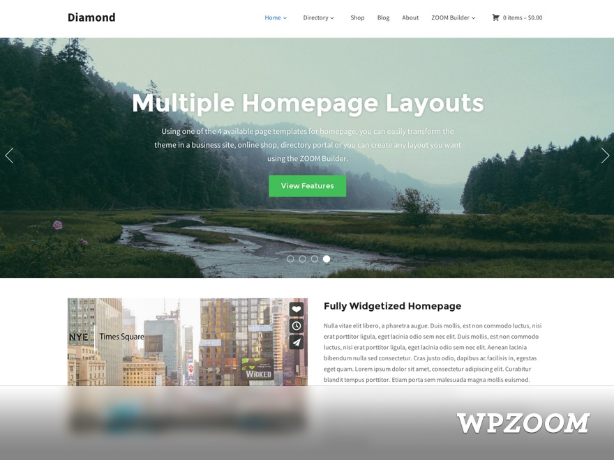 Diamond2 WordPress shop theme