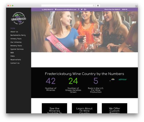Divi WordPress page template - fredericksburguncorked.com