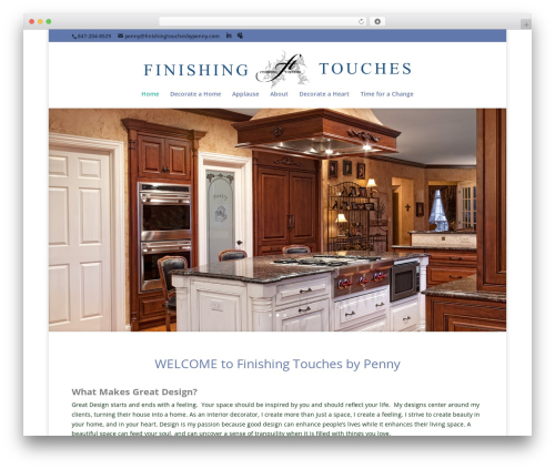 WordPress css-hero plugin - finishingtouchesbypenny.com
