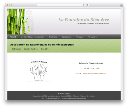 Dynamik-Gen WordPress theme - fontainedubienetre.fr