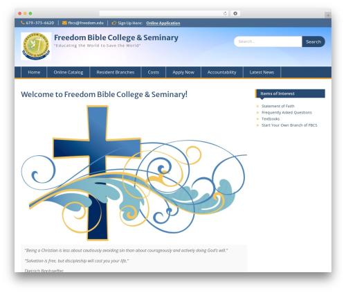 Education Hub free WordPress theme - freedom.edu