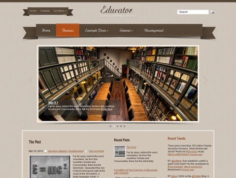 Educator theme WordPress