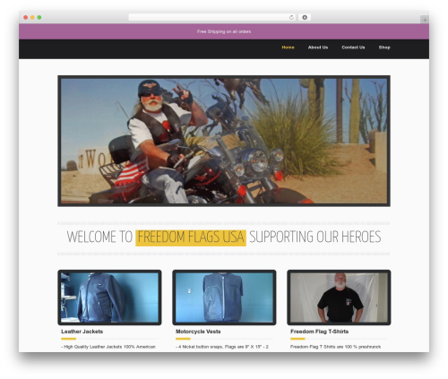 Emporium WordPress theme - freedomflagsusa.com