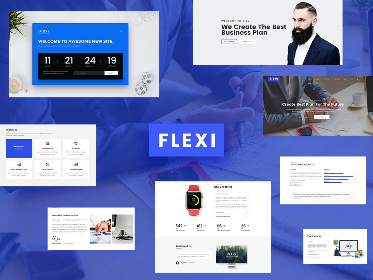 Flexi WordPress template for business