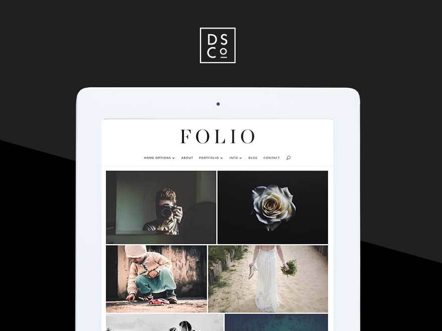 Folio WordPress theme