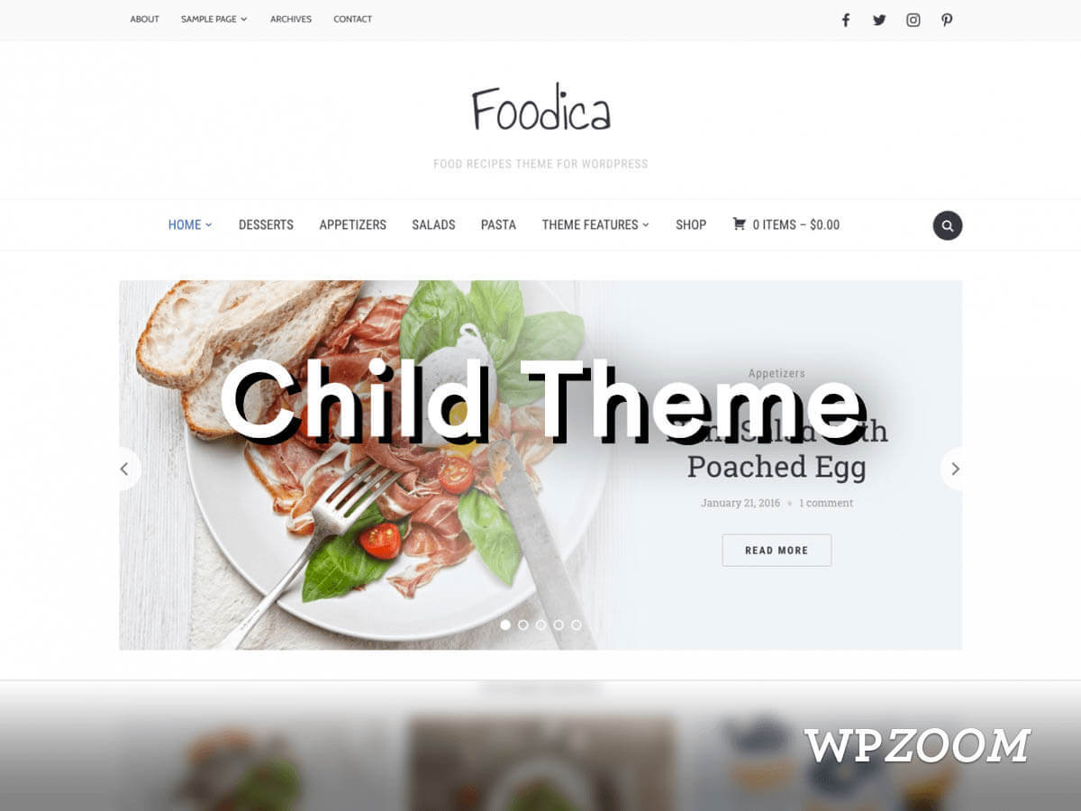 Foodica Child WordPress blog theme