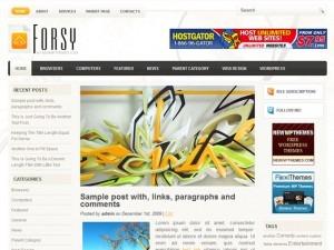 Forsy WordPress video template