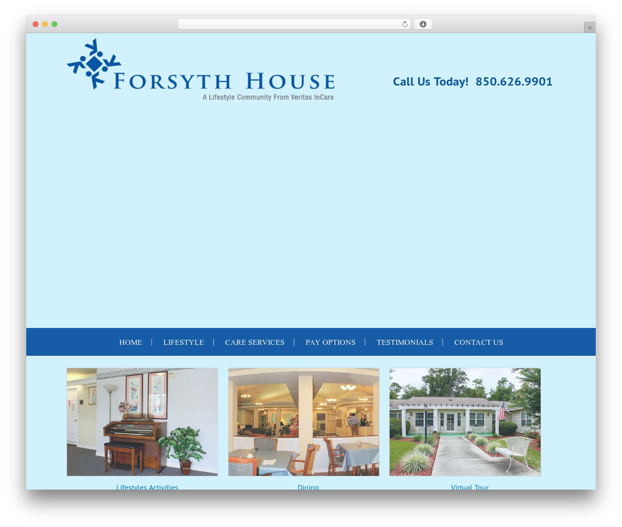Forsyth House Theme WordPress website template - forsythhouse.com