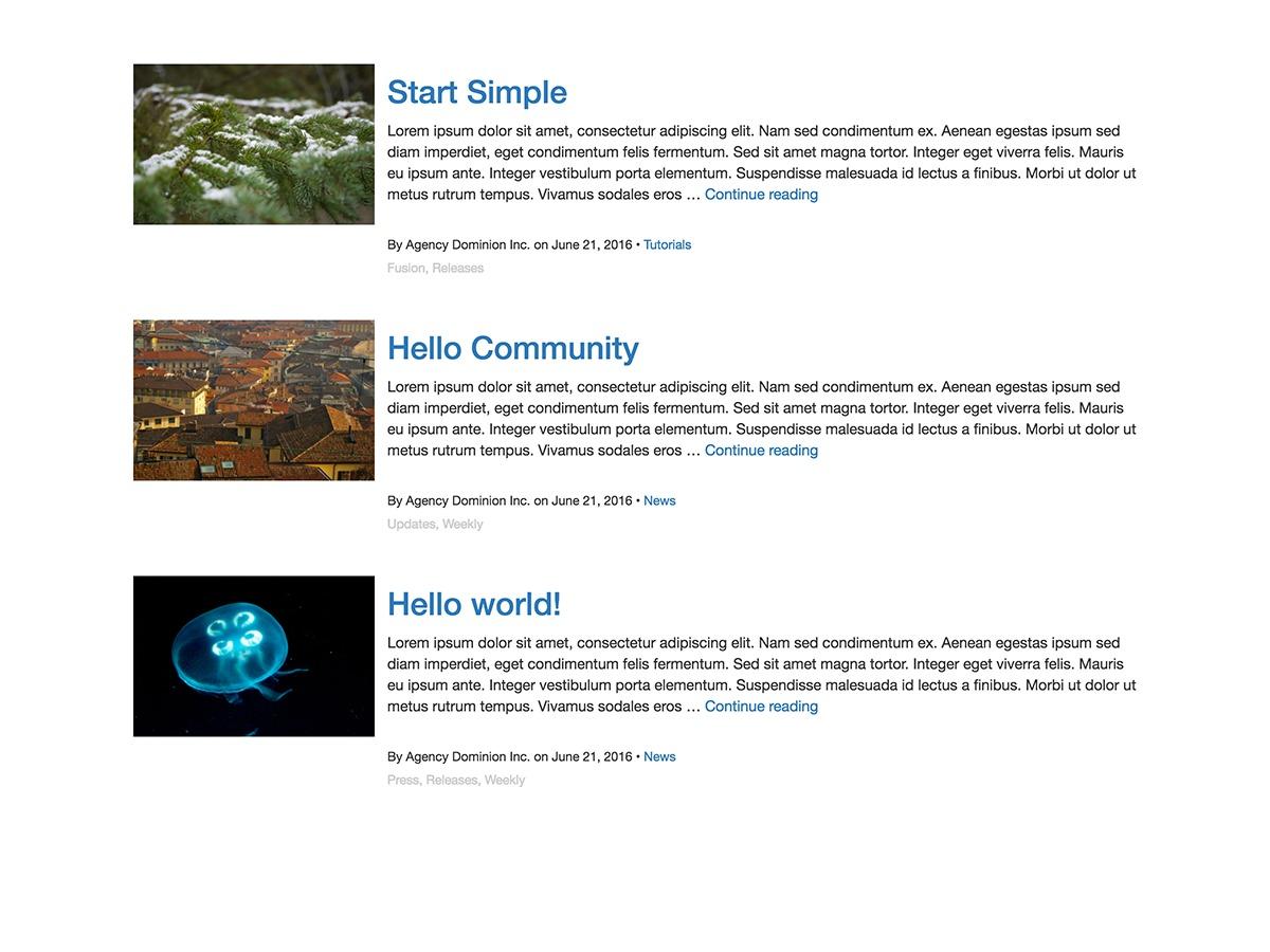 Fusion Base WordPress template free download