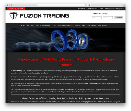 Headway Base best WordPress template - fuziontrading.co.za