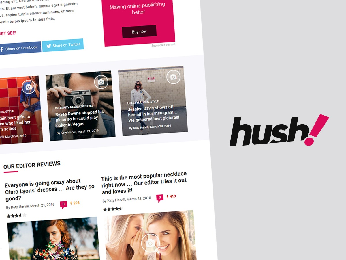 Hush WordPress website template