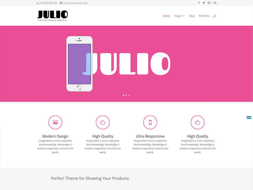Julio-Divi-Child top WordPress theme