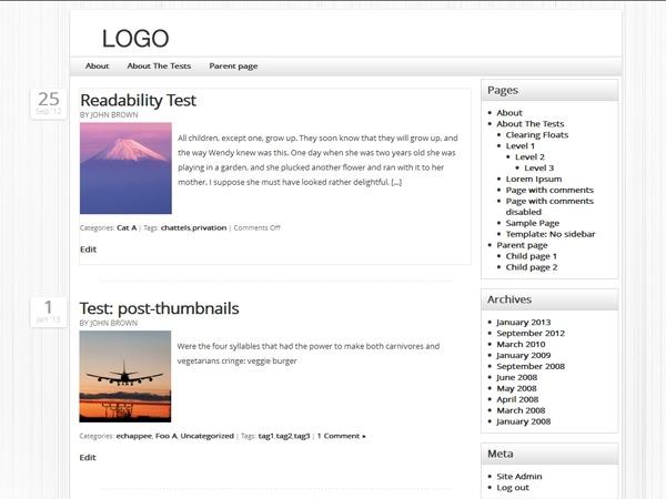Kangaroo WordPress gallery theme