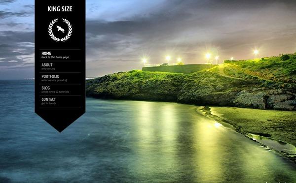 KingSize WordPress page template