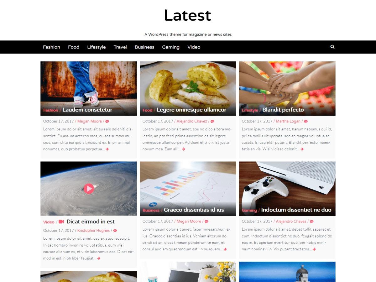Latest free WordPress theme