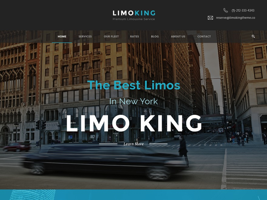 LimoKing WordPress theme