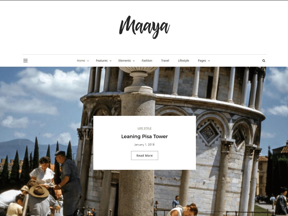 Maaya WordPress blog template