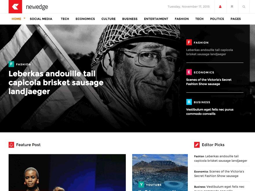NewEdge best WordPress magazine theme
