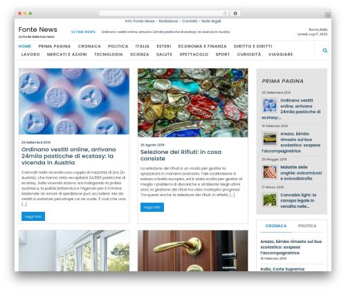 Online News free website theme - fontenews.it