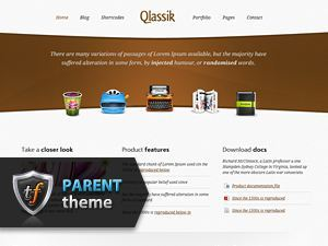 Qlassik Parent WordPress template for business