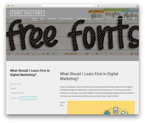 Radium theme WordPress - font-factory.com